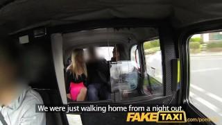 FakeTaxi Hot sexy taxi foursome gang bang porno