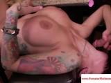 Angelina Valentine sprayed with cum