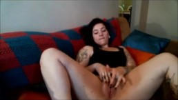 Dahlia Dee Masturbating on the Couch