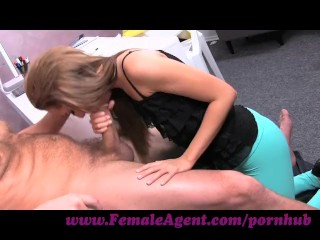 FemaleAgent. Big cock delivers creampie present after casting fuck frenzy