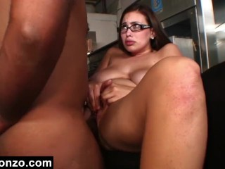 Secretary Goes Down On A Thick Black Dick