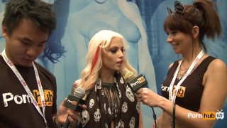 PornhubTV Rikki Six Interview at 2014 AVN Awards porno