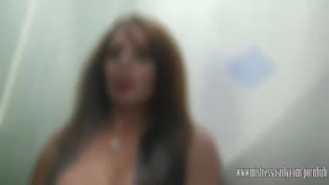 Carli banks blowjob - Mistress carly fucks in toilet and has slave lick her creampie