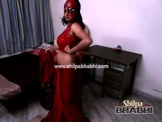 Sexy shilpa bhabhi saree stripping naked sex...