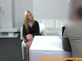 FakeAgent Super hot blonde loves big cock