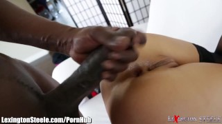 Asa Akira Fucked by 11 Inch Black Cock in Ass Big dmm