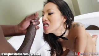 Asa Akira Fucked by 11 Inch Black Cock in Ass Style dick
