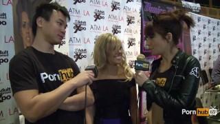 PornhubTV Aubrey Addams Interview at 2014 AVN Awards Realitykings.com cumshot