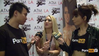 PornhubTV AJ Applegate Interview at 2014 AVN Awards New interview