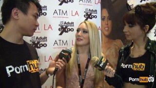 PornhubTV AJ Applegate Interview at 2014 AVN Awards porno