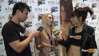 PornhubTV AJ Applegate Interview at 2014 AVN Awards Milf pornstar