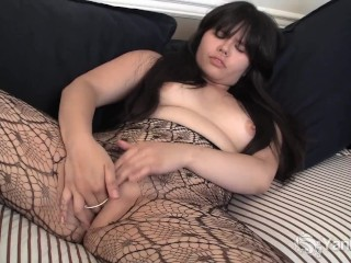 Asian Hermine Toying Her Hairy Pussy