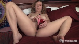 Blonde Ruby Toy Her Pussy