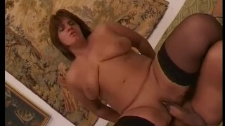 Mature euro brunette sucking and fucking
