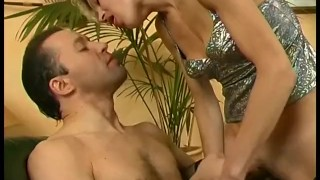 Blonde cougar teaches younger guy
