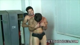 Joey spanking dalessandro fetish and kinky latinos gabriel milano play sex muscle