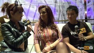 PornhubTV Syren De Mer Interview at 2014 AVN Awards Blonde pussy