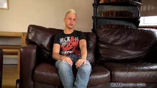 Dick drains his wet sweet deacon dick twink