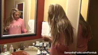 Hottie Samantha Saint's behind the scenes footage