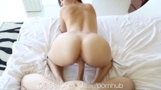 Passion-HD Teen blows guy after she masturbates