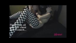 Handjobs and Masturbation in Checkered Stockings