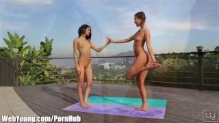 EXCLUSIVE: Webyoung Alina Li Licking Teen Pussy after yoga
