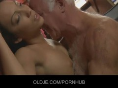 Nasty maid wants her old boss cock in mouth