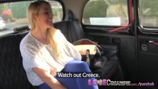 LoveCreampie Stunning busty blonde lets taxi driver cum inside for cash Blowjobs dick