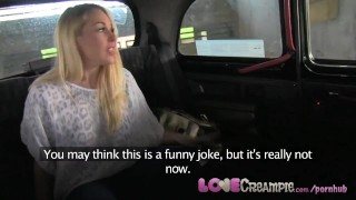 LoveCreampie Stunning busty blonde lets taxi driver cum inside for cash  cum in her big tits british blonde blowjob thick cum busty cuni orgasm flash big boobs car fuck oral sex seeding cum inside lovecreampie