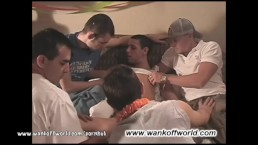 Ayden's Birthday Party Becomes An Amateur Gay Group Barebacking Party