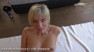 Schnuggie91 - German blonde GF shows Easter surprise!