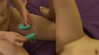 Testing girlfriends new asian toy busty homemade