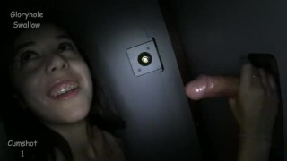 Two Latina Teens Visit Gloryhole