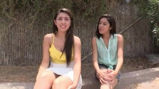 Two Latina Teens Visit Gloryhole Pussy extra