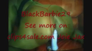 Phat Dripping Wet Black Pussy Swallowing Dildo & Squirting Part 2