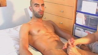 real str8 arab guy gets wanked by a guy. Blowjob spit