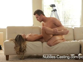 Nubiles Casting – Can this teen firecracker make it in porn?