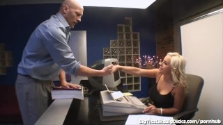 Hot Secretary With Huge Boobs Fucks In The Back Office Babe bdsm