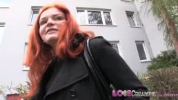 Love Creampie Cheating vrouw straat ophalen krijgt anale creampie in een kelder