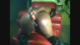 Ebony Amateur Dildos Wet Pussy And Ass And Has Multiple Squirting Orgasms