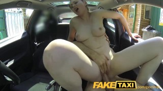 Screen Capture of Video Titled: FakeTaxi Posh woman pays good money for a fuck