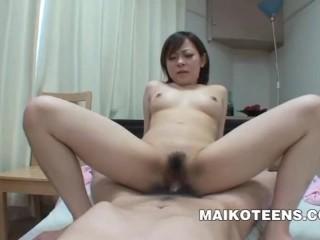 Chika Matsura - Perky Japanese Teen Bouncing On Cock
