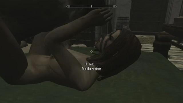 Nude cartonn - Skyrim - sex with aela nude