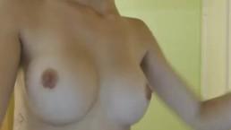 Nice Ass Hottie Strips and Sucks her Dildo