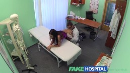 FakeHospital Slim gorgeous patient needs doctors cream for her beautifully