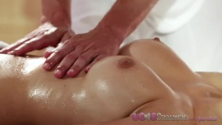 Preview 5 of Love Creampie Big tits babe gets filled with spunk on the massage table