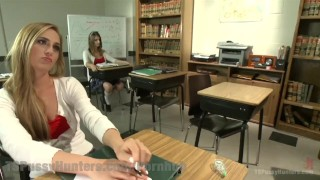 Two Hotties Fuck In Detention Rough doggystyle