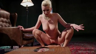 Blonde Punishes 18 Yr Old Cock