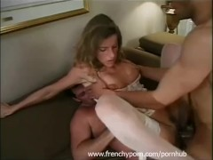 French amateur housewife in her first DP