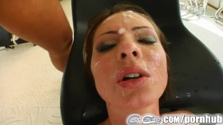 Cum For Cover Garbriella's blindfolded and soaked in cum porno